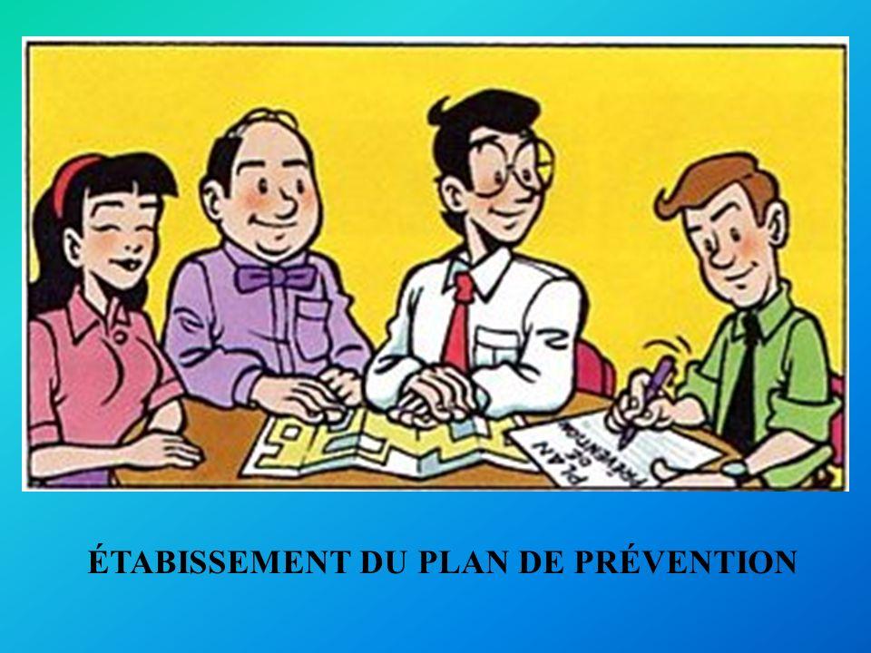 ÉTABISSEMENT DU PLAN DE PRÉVENTION