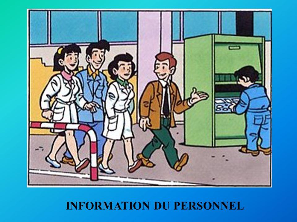 INFORMATION DU PERSONNEL