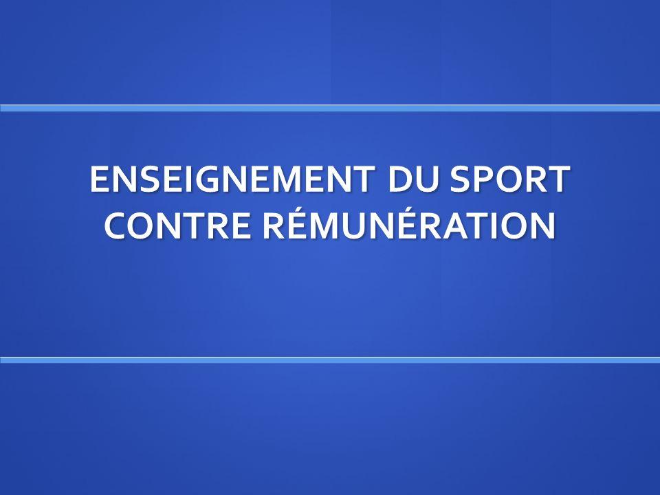 Enseignement du sport contre rémunération Chapitre II : Enseignement du sport contre rémunération Chapitre II : Enseignement du sport contre rémunération Section 1 : Obligation de qualification Section 1 : Obligation de qualification I.