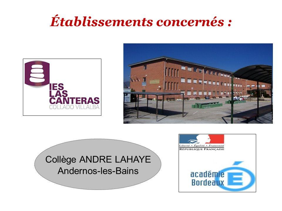 Établissements concernés : Collège ANDRE LAHAYE Andernos-les-Bains