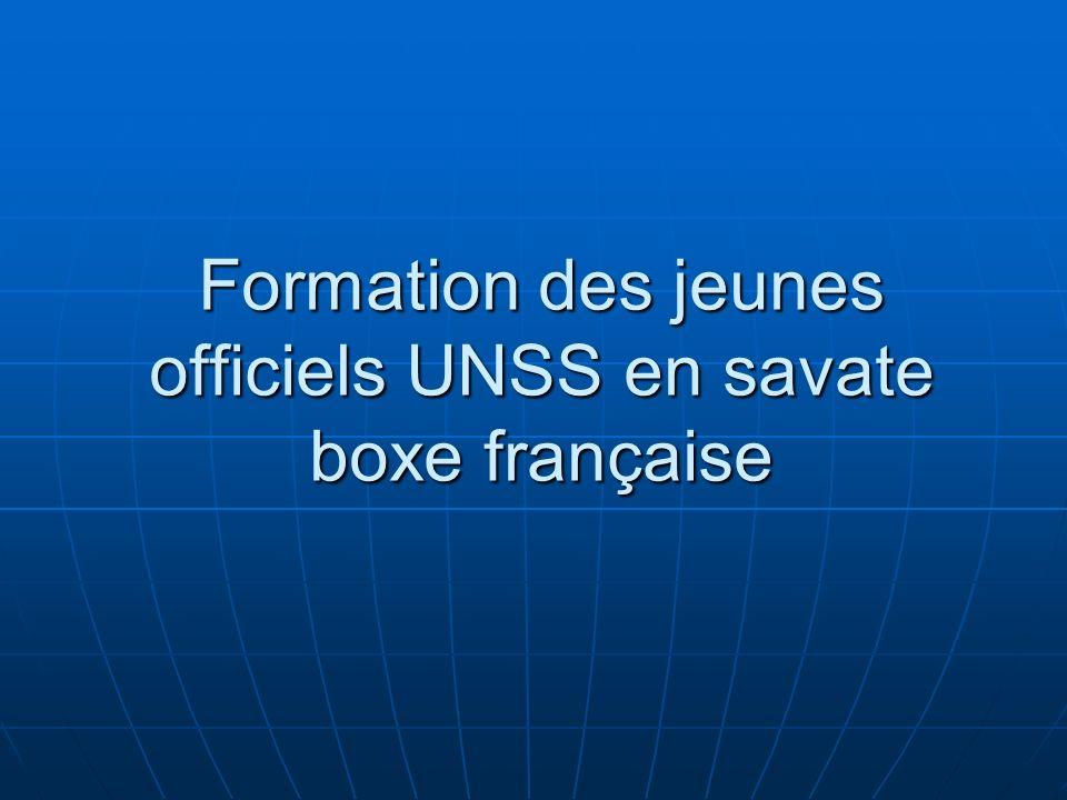 Formation des jeunes officiels UNSS en savate boxe française
