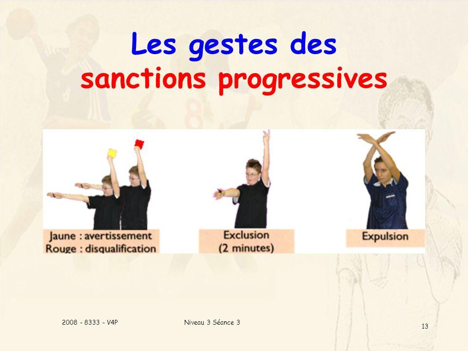 Niveau 3 Séance 32008 - 8333 - V4P 13 Les gestes des sanctions progressives