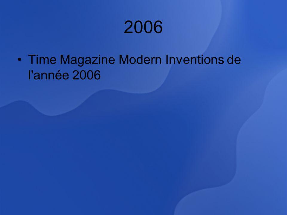 2006 Time Magazine Modern Inventions de l année 2006