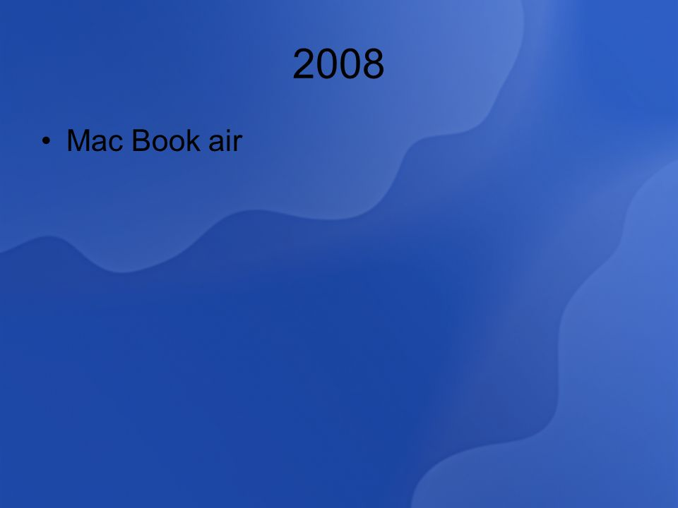 2008 Mac Book air