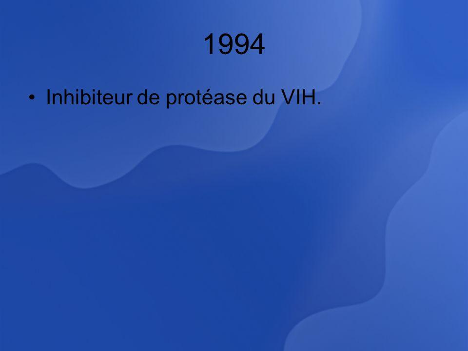 1994 Inhibiteur de protéase du VIH.