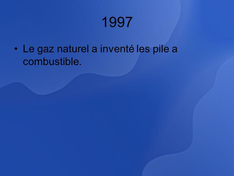 1997 Le gaz naturel a inventé les pile a combustible.