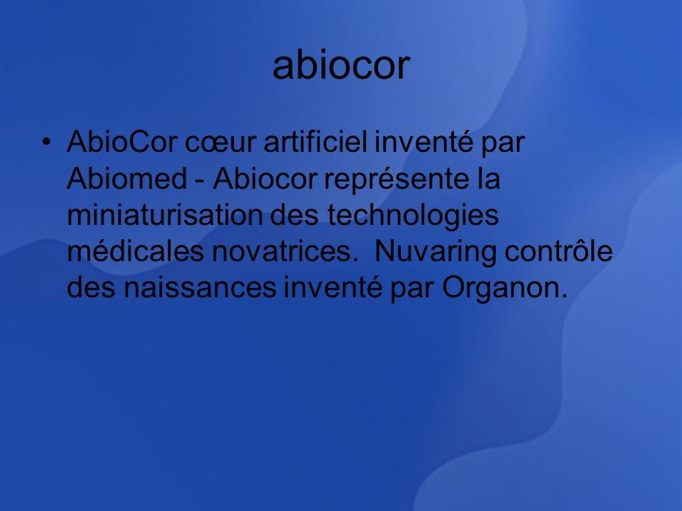 abiocor AbioCor cœur artificiel inventé par Abiomed - Abiocor représente la miniaturisation des technologies médicales novatrices.