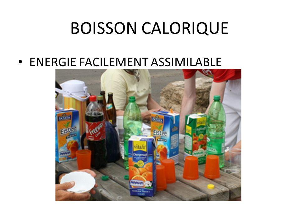 BOISSON CALORIQUE ENERGIE FACILEMENT ASSIMILABLE