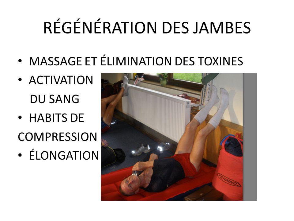RÉGÉNÉRATION DES JAMBES MASSAGE ET ÉLIMINATION DES TOXINES ACTIVATION DU SANG HABITS DE COMPRESSION ÉLONGATION