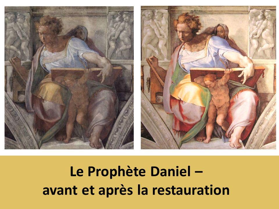 Le Prophète Daniel – avant et après la restauration