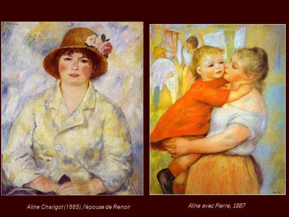 En 1890, à l'âge de 49 ans, Renoir a été marié à Aline Charigot (26 ans) avec qui il eut trois enfants : Pierre, Jean et Claude (noix de coco). Pierre