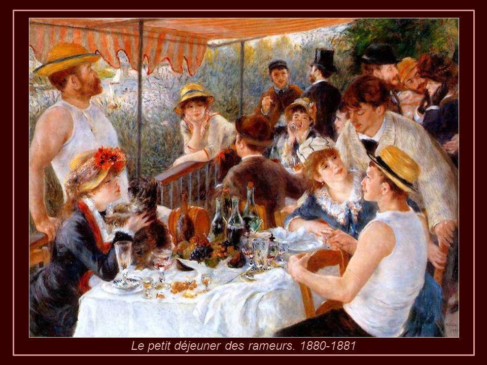 Le petit déjeuner des rameurs. 1880-1881