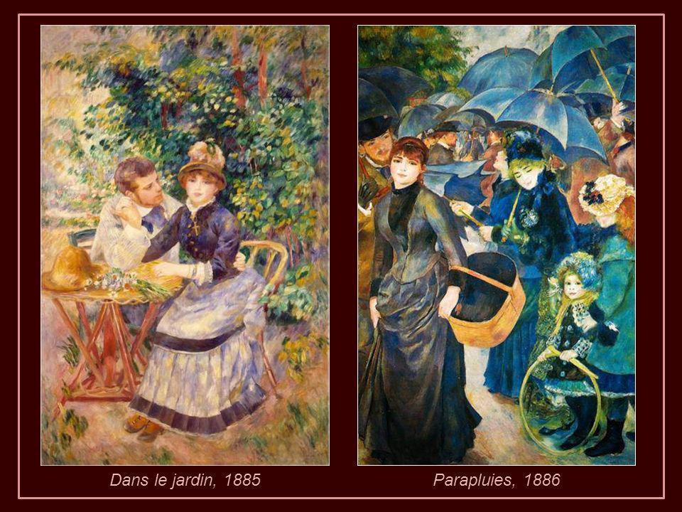 Retour à Cagnes ensuite peinture jusqu à ce quil est fini sa composition « Repos après le bain ».