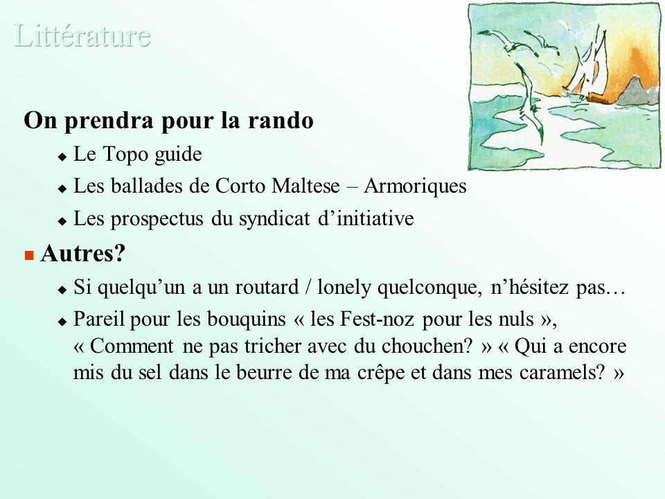 On prendra pour la rando Le Topo guide Les ballades de Corto Maltese – Armoriques Les prospectus du syndicat dinitiative Autres.