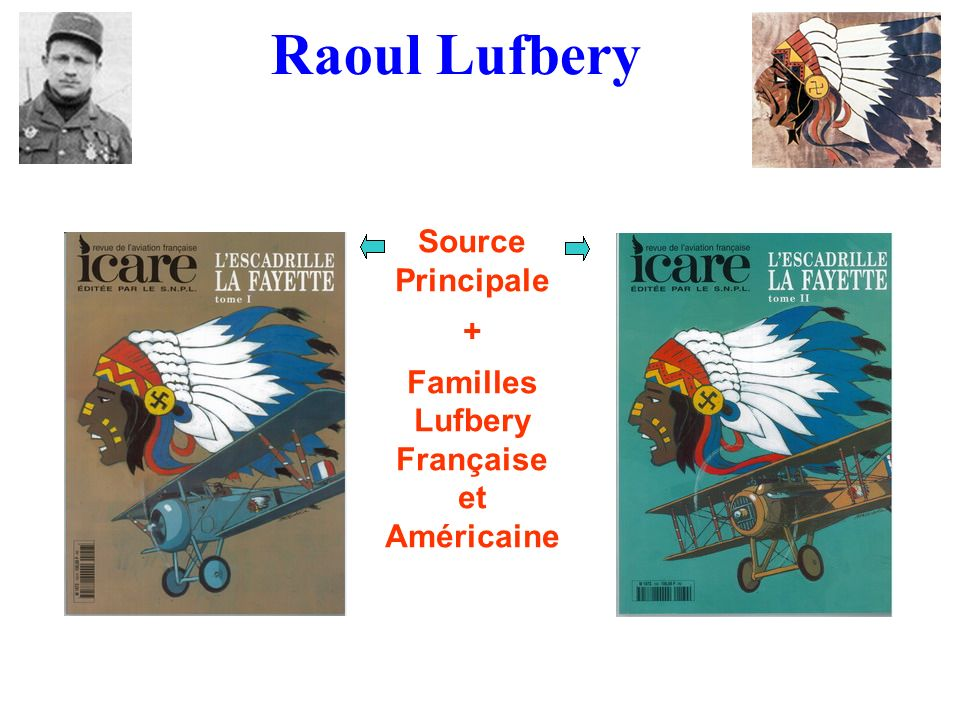 Source Principale + Familles Lufbery Française et Américaine Raoul Lufbery