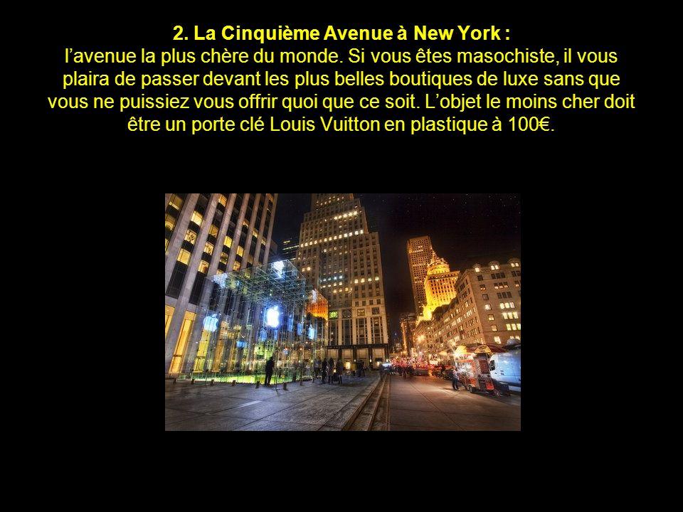 1. Lavenue des Champs Elysées à Paris : considérée comme la plus belle avenue du monde... surtout par les français, et plus particulièrement Joe Dassi