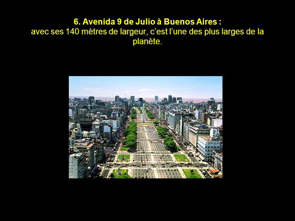 5. Avenida Marquês de Sapucai à Rio de Janeiro : avenue entourée de gradins où se déroule le défilé des meilleures écoles de samba lors du carnaval de