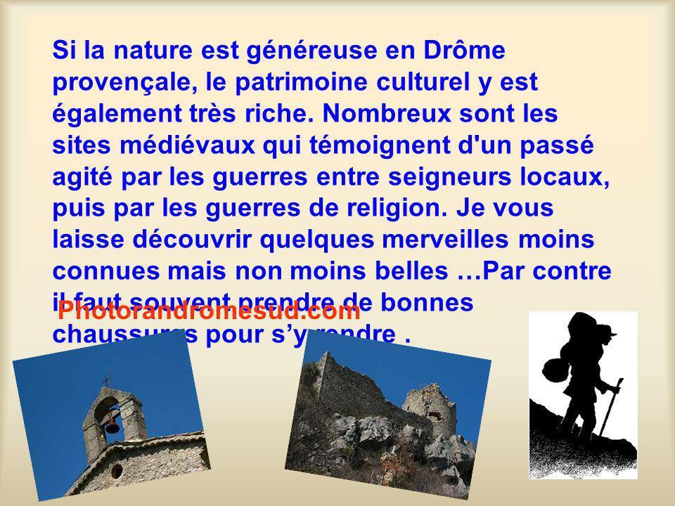 Si la nature est généreuse en Drôme provençale, le patrimoine culturel y est également très riche.