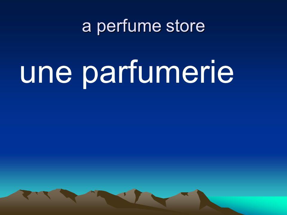 a perfume store une parfumerie