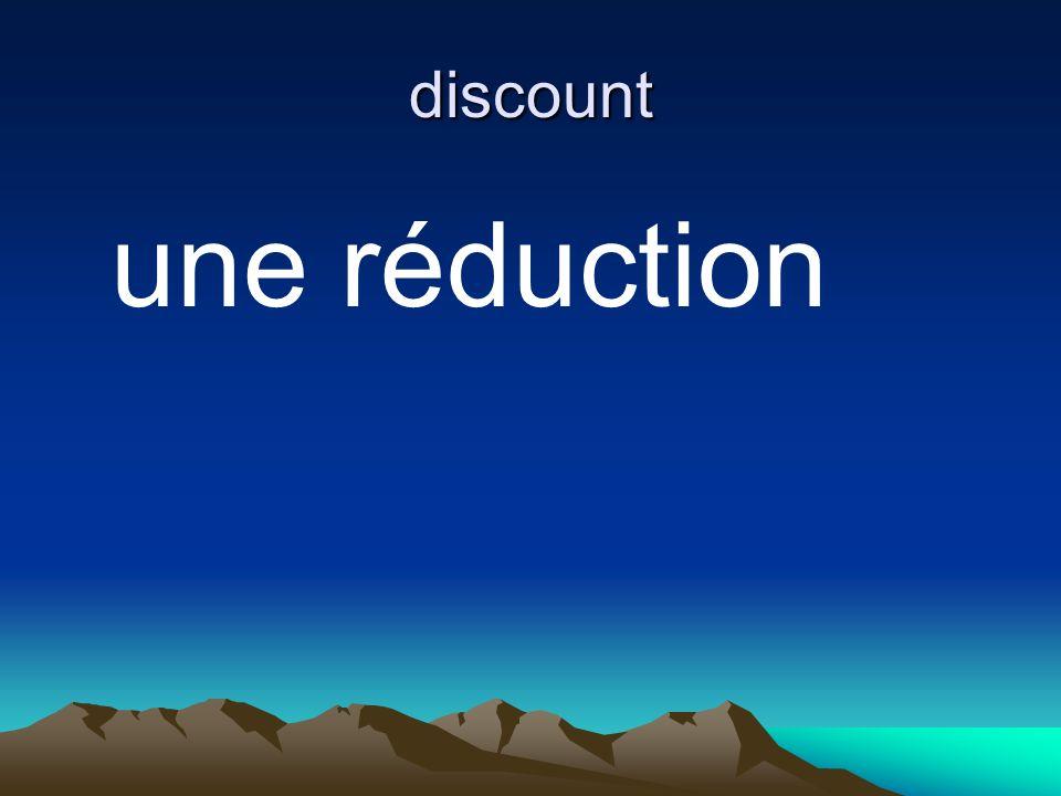 discount une réduction