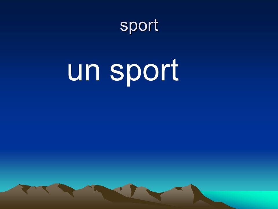 sport un sport