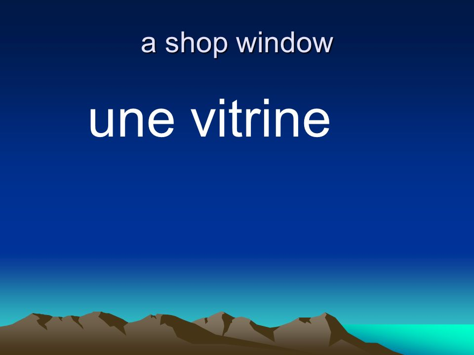 a shop window une vitrine