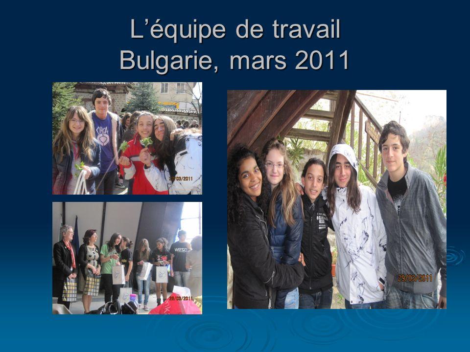 Léquipe de travail Bulgarie, mars 2011