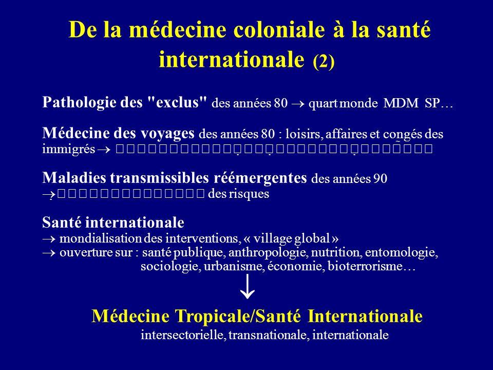 De la médecine coloniale à la santé internationale (2) Pathologie des