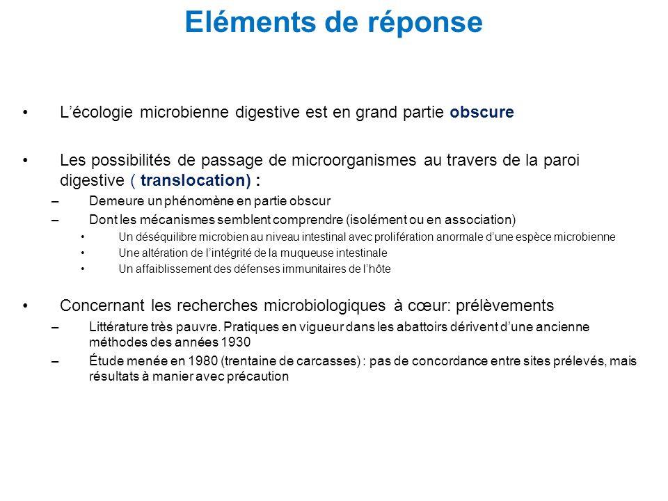 Lécologie microbienne digestive est en grand partie obscure Les possibilités de passage de microorganismes au travers de la paroi digestive ( transloc