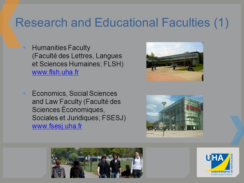 Research and Educational Faculties (1) Humanities Faculty (Faculté des Lettres, Langues et Sciences Humaines; FLSH) www.flsh.uha.fr www.flsh.uha.fr Ec