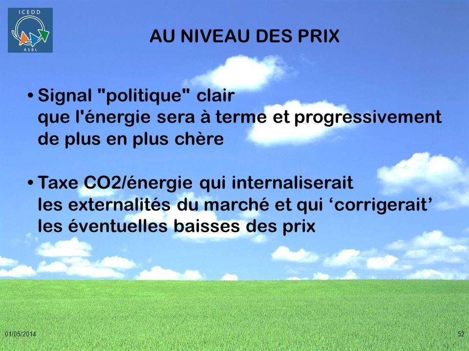 01/05/201452 AU NIVEAU DES PRIX Signal