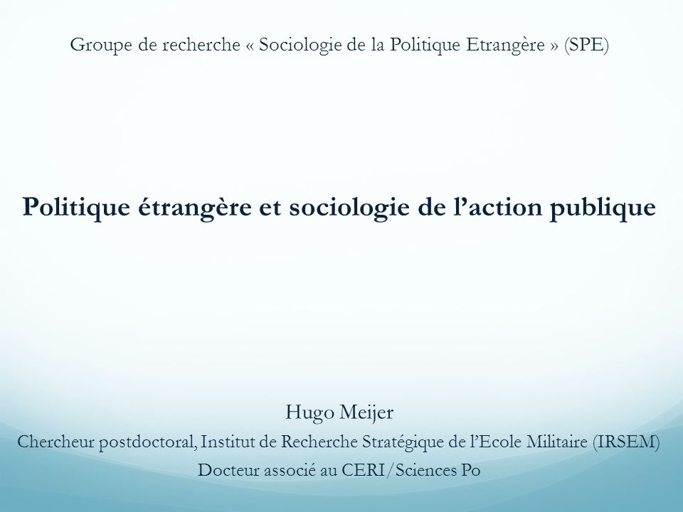 Appels au dialogue entre FPA et APP : France : Marie-Christine Kessler Marcel Merle US : Ingram H., Fiederlein S., 1988, « Traversing Boundaries: A Public Policy Approach to the Study of Foreign Policy », The Western Political Quarterly, vol.