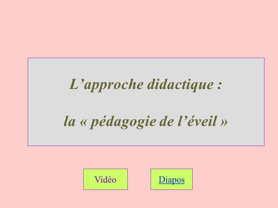 Lapproche didactique : la « pédagogie de léveil » VidéoDiapos