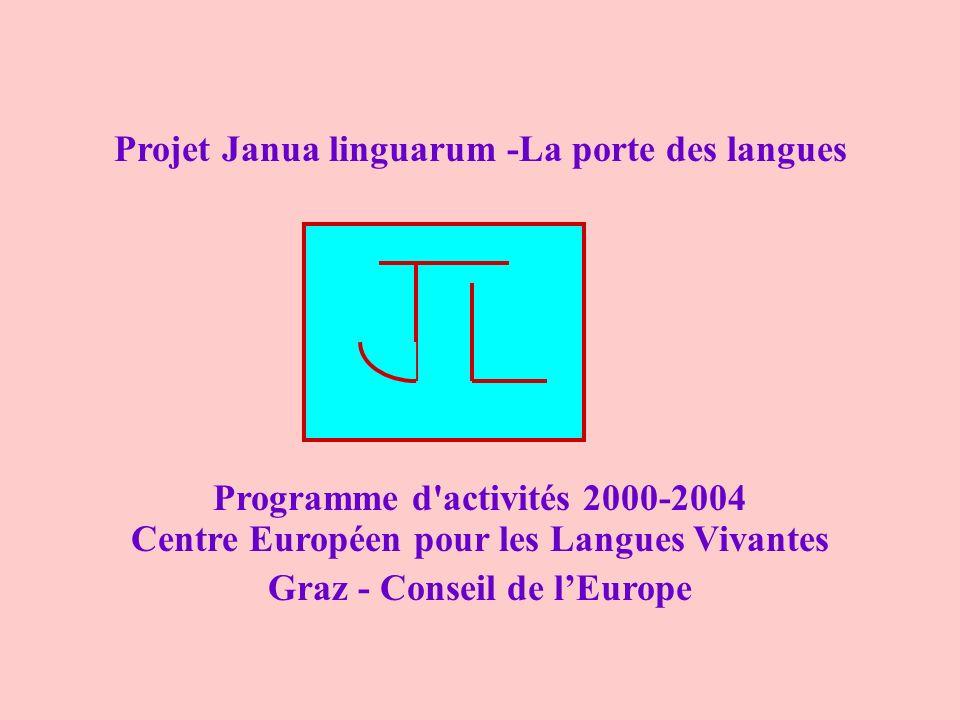Projet Janua linguarum -La porte des langues Programme d'activités 2000-2004 Centre Européen pour les Langues Vivantes Graz - Conseil de lEurope