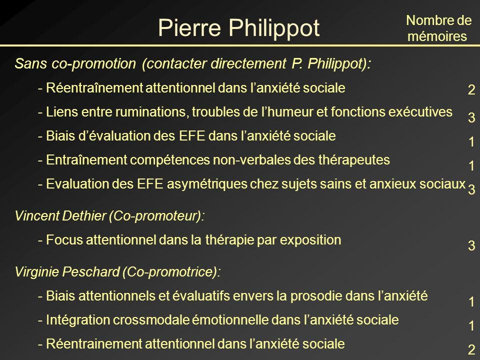 Pierre Philippot Sans co-promotion (contacter directement P.