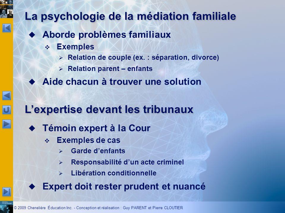 © 2009 Chenelière Éducation Inc. - Conception et réalisation : Guy PARENT et Pierre CLOUTIER Aborde problèmes familiaux Exemples Relation de couple (e