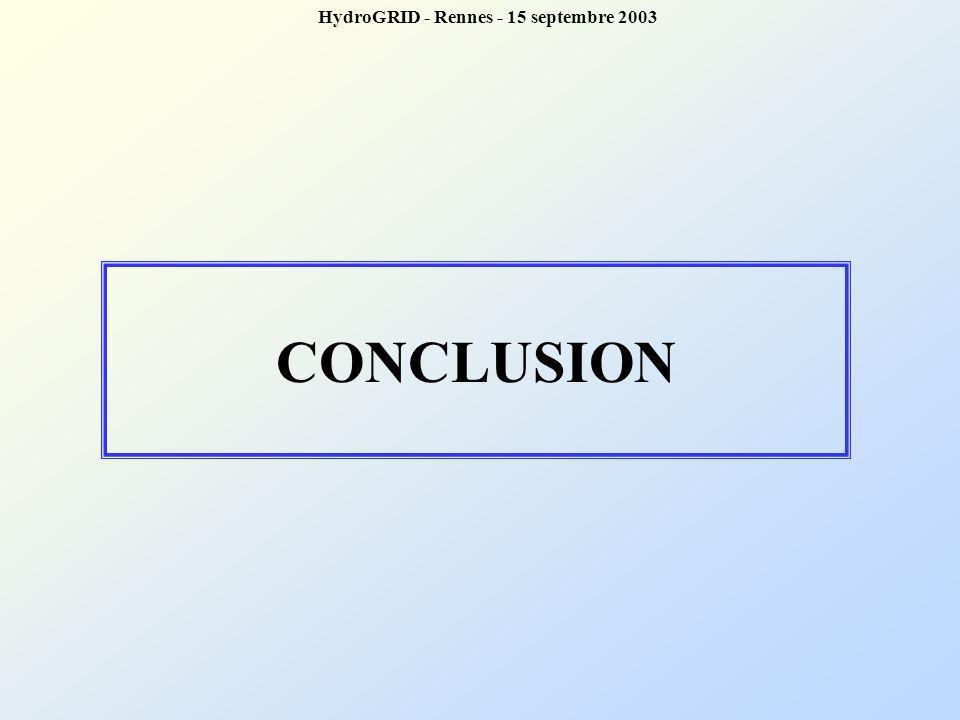CONCLUSION HydroGRID - Rennes - 15 septembre 2003