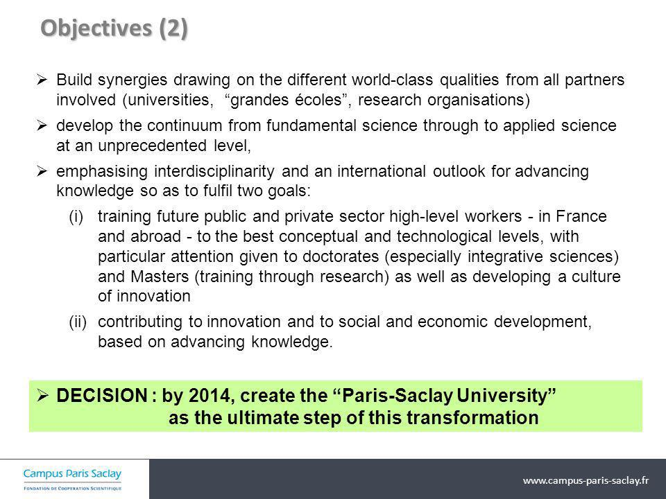 Transverse Initiatives addressing socio-economic challenges Breakthrough project « Physics and Engineering for Medicine » Applications of ionising radiation, for medical use and in medical imaging methods Breakthrough project « Systems Biology » Accumulating, managing and integrating knowledge at all levels of organisation of life Network « Biotechnology and Bio- sourced/bio-inspired Chemistry » Understanding microbial and plant metabolisms, production of synthons and raw materials for industry, commercialisation of biomass, indust.