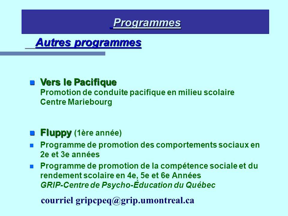 Programmes Programmes Autres programmes n Vers le Pacifique n Vers le Pacifique Promotion de conduite pacifique en milieu scolaire Centre Mariebourg n