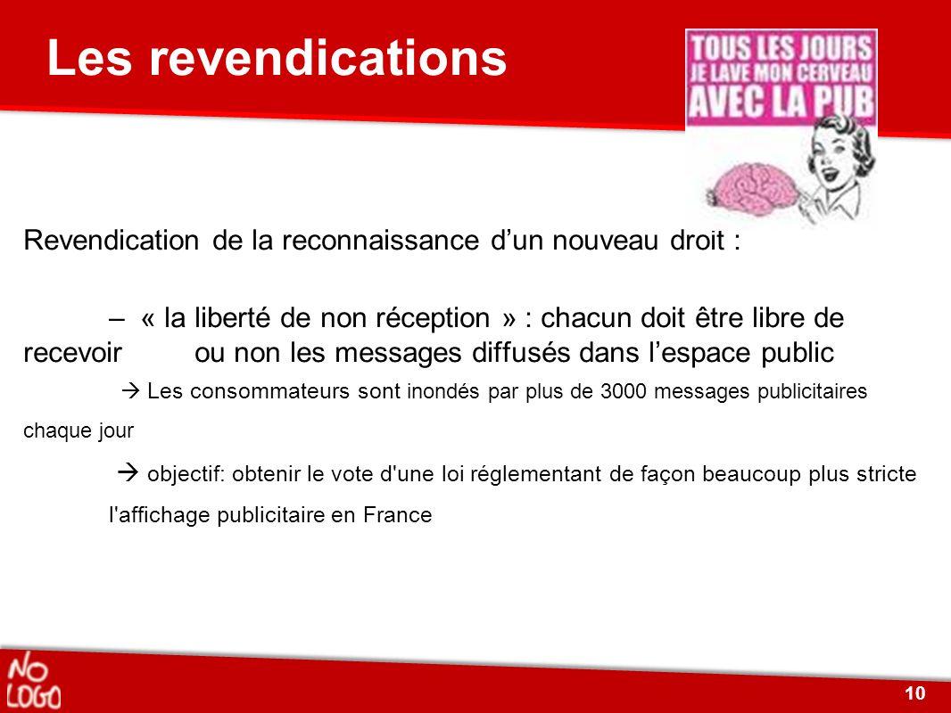 Revendication de la reconnaissance dun nouveau droit : – « la liberté de non réception » : chacun doit être libre de recevoir ou non les messages diff