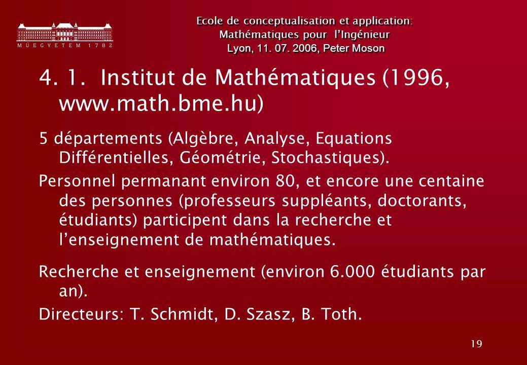 19 Ecole de conceptualisation et application: Mathématiques pour lIngénieur Lyon, 11.