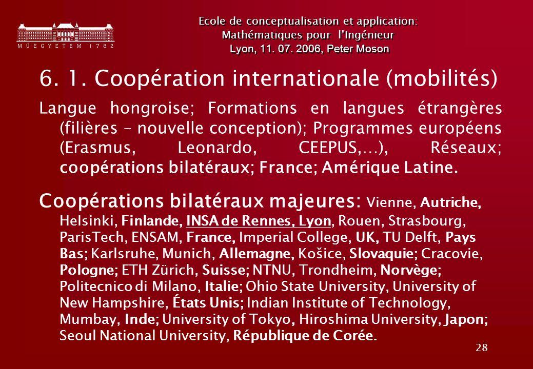 28 Ecole de conceptualisation et application: Mathématiques pour lIngénieur Lyon, 11.