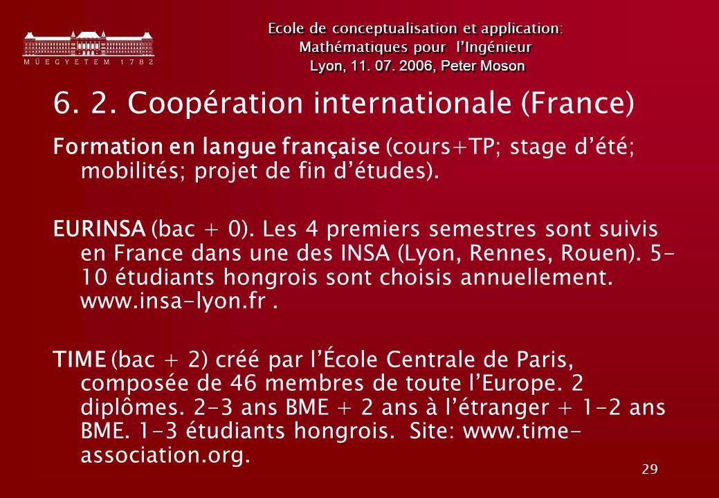 29 Ecole de conceptualisation et application: Mathématiques pour lIngénieur Lyon, 11.