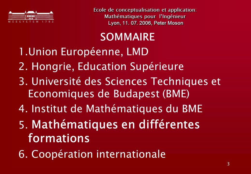 3 Ecole de conceptualisation et application: Mathématiques pour lIngénieur Lyon, 11.