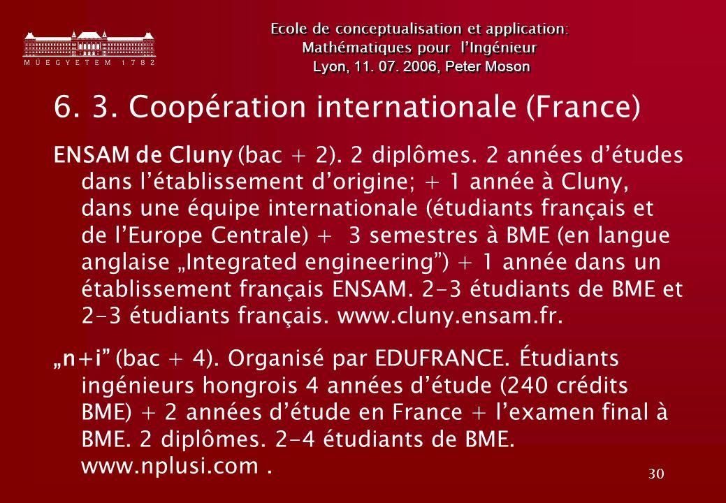 30 Ecole de conceptualisation et application: Mathématiques pour lIngénieur Lyon, 11.
