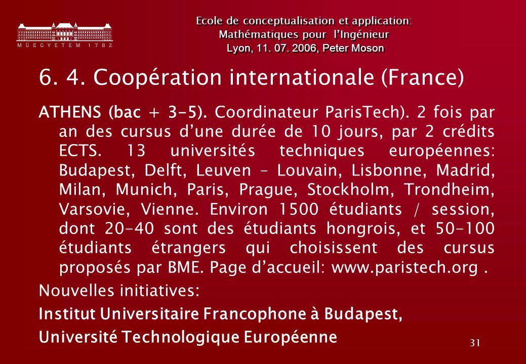31 Ecole de conceptualisation et application: Mathématiques pour lIngénieur Lyon, 11.