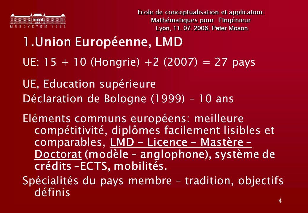 4 Ecole de conceptualisation et application: Mathématiques pour lIngénieur Lyon, 11.