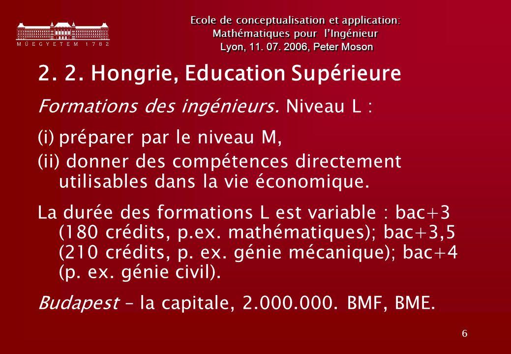6 Ecole de conceptualisation et application: Mathématiques pour lIngénieur Lyon, 11.