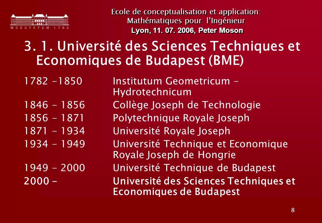 8 Ecole de conceptualisation et application: Mathématiques pour lIngénieur Lyon, 11.