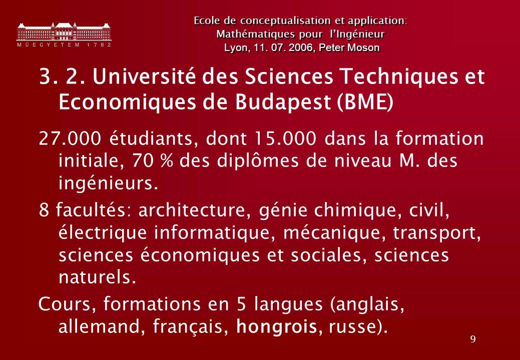 9 Ecole de conceptualisation et application: Mathématiques pour lIngénieur Lyon, 11.
